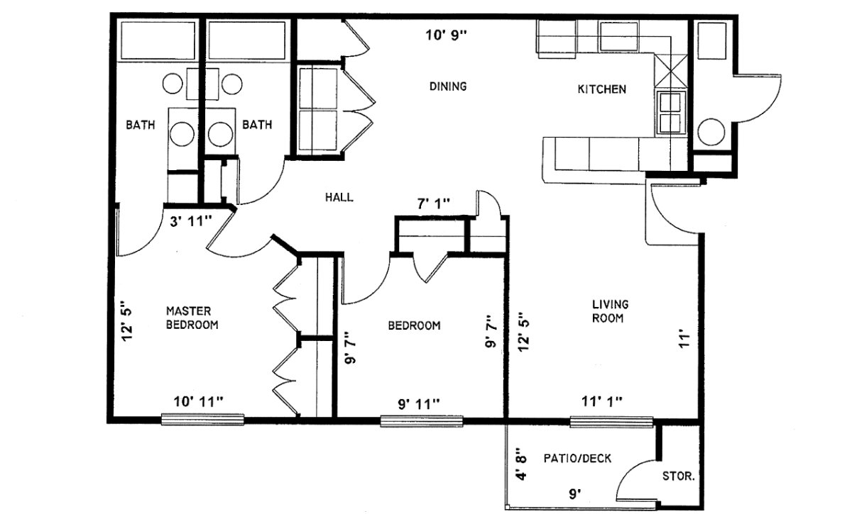 2 Bedroom phase-1 Sundance Apartments