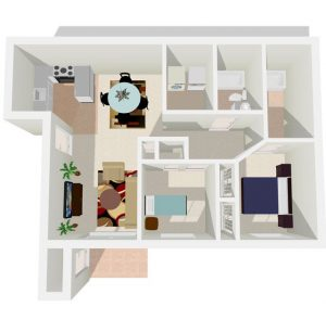 Two Bedroom phase-1 Sundance Apartments